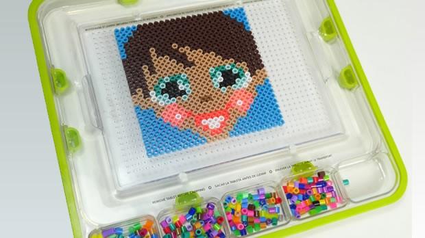 Manualidad infantil : Chica Yodimi en perlas para planchar