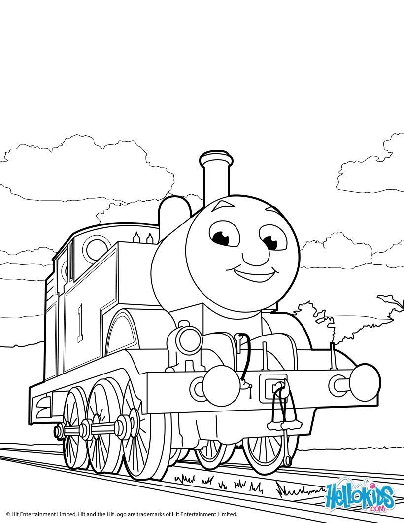 Dibujos para colorear thomas - es.hellokids.com