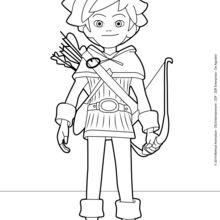 Dibujos para colorear robin hood   es.hellokids.com