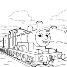 Dibujo para colorear : James