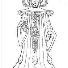 Dibujo para colorear : La reina Amidala