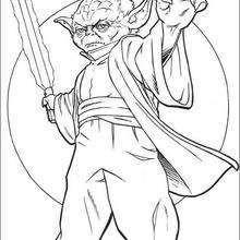 Dibujo para colorear : Maestro Yoda