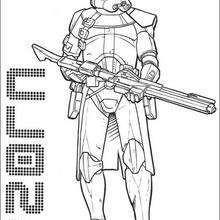 Dibujo para colorear : Un comandante Clone