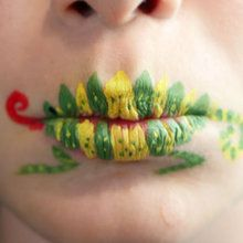 Arte manual : Pintura de labios - Camaleón