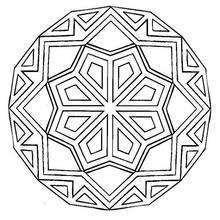 Mandala Rombos y líneas