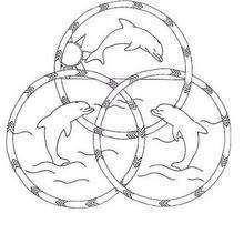Mandala Hermosos delfines