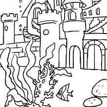 Dibujo para colorear : reino de las sirenas