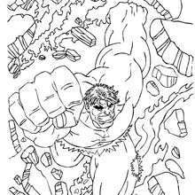 Dibujo para colorear : Hulk aparece