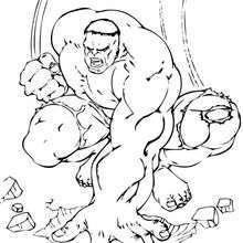Dibujo para colorear : Hulk verde