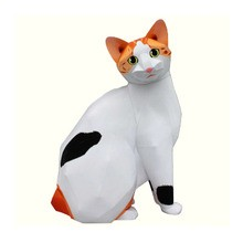 Gato Bobtail japonés 3D