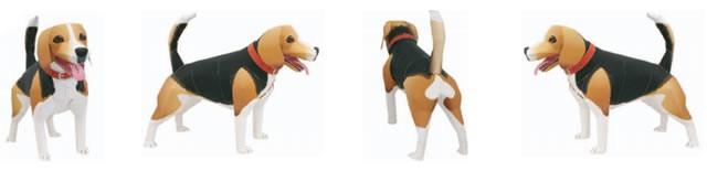Doblado de papel : Perro de papel: Beagle 3D