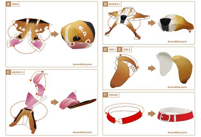 Papiroflexia ANIMALES - Beagle 3D