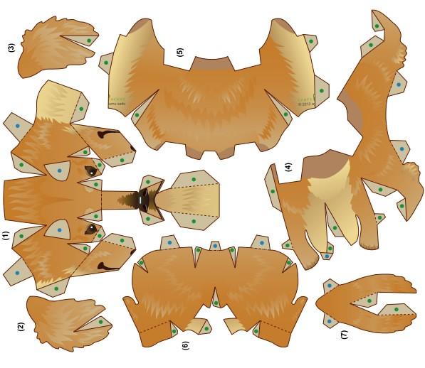 Papiroflexia ANIMALES - Perro salchicha 3D