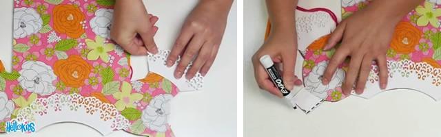 Manualidad infantil : Disfraces de muñecas de papel
