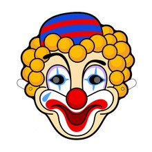Manualidad infantil : Mascara carnaval PAYASO