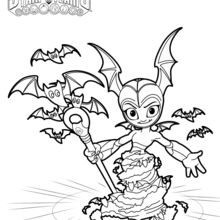 Dibujo para colorear : Bat Spin