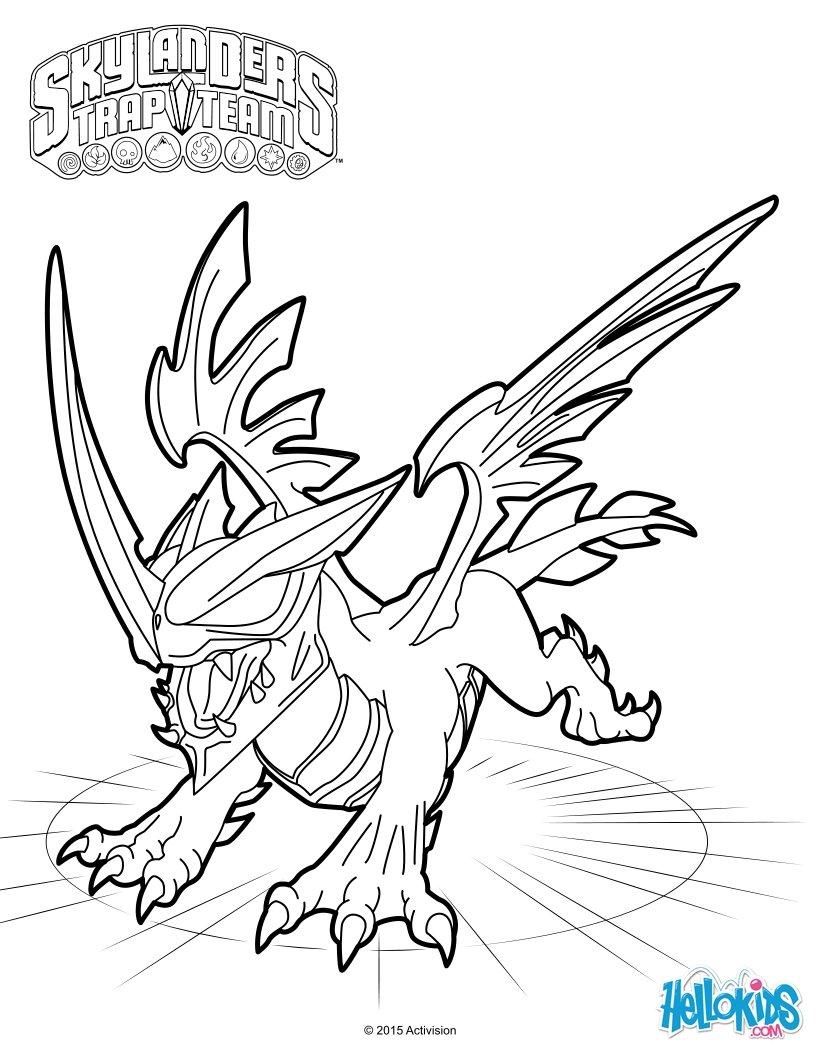 Dorable Skylander Gigante Para Colorear Adorno - Dibujos Para ...
