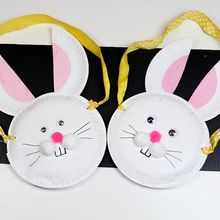 Manualidad infantil : Cesta de conejo de Pascua