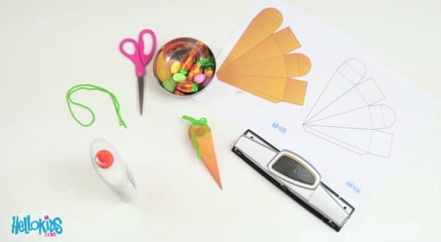 Manualidad infantil : Zanahoria sorpresa de Pascua