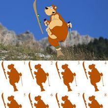 El oso de Andorra esquiando