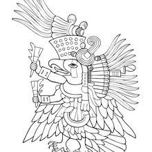 Dibujo para colorear : Ehecatl, Dios del Viento