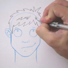 Truco para dibujar en vídeo : Dibujar cabello despeinado