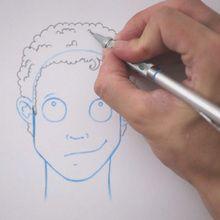 Truco para dibujar en vídeo : Dibujar cabello risado