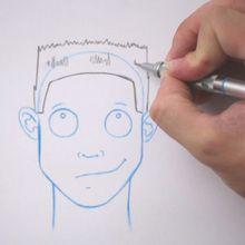 Truco para dibujar en vídeo : Dibujar cabeza al rape