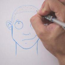 Truco para dibujar en vídeo : Dibujar corte de pelo rapado