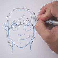 Truco para dibujar en vídeo : Dibujar un corte de pelo tipo Emo