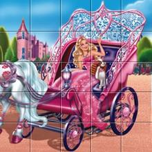 Puzzle en línea : Barbie La Princesa y la Pop Star, el carro principal