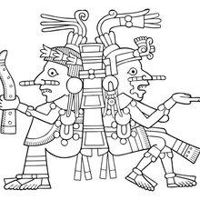 Dibujo para colorear : Diosa mexica Xochiquétzal