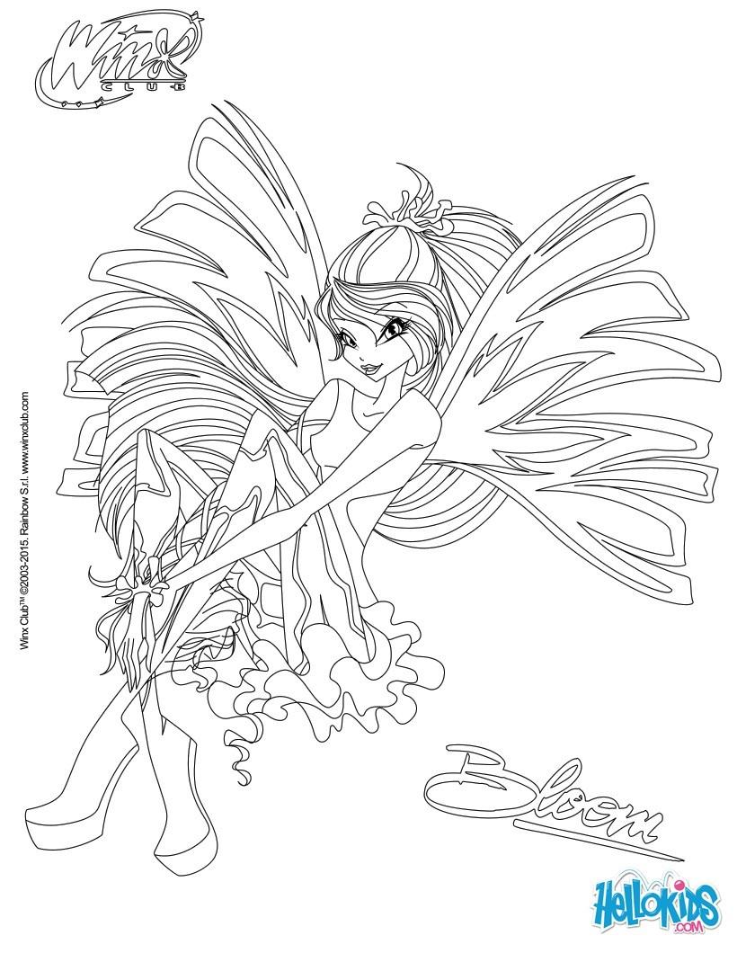 Las Winx Para Colorear Dibujos Para Colorear Imprime