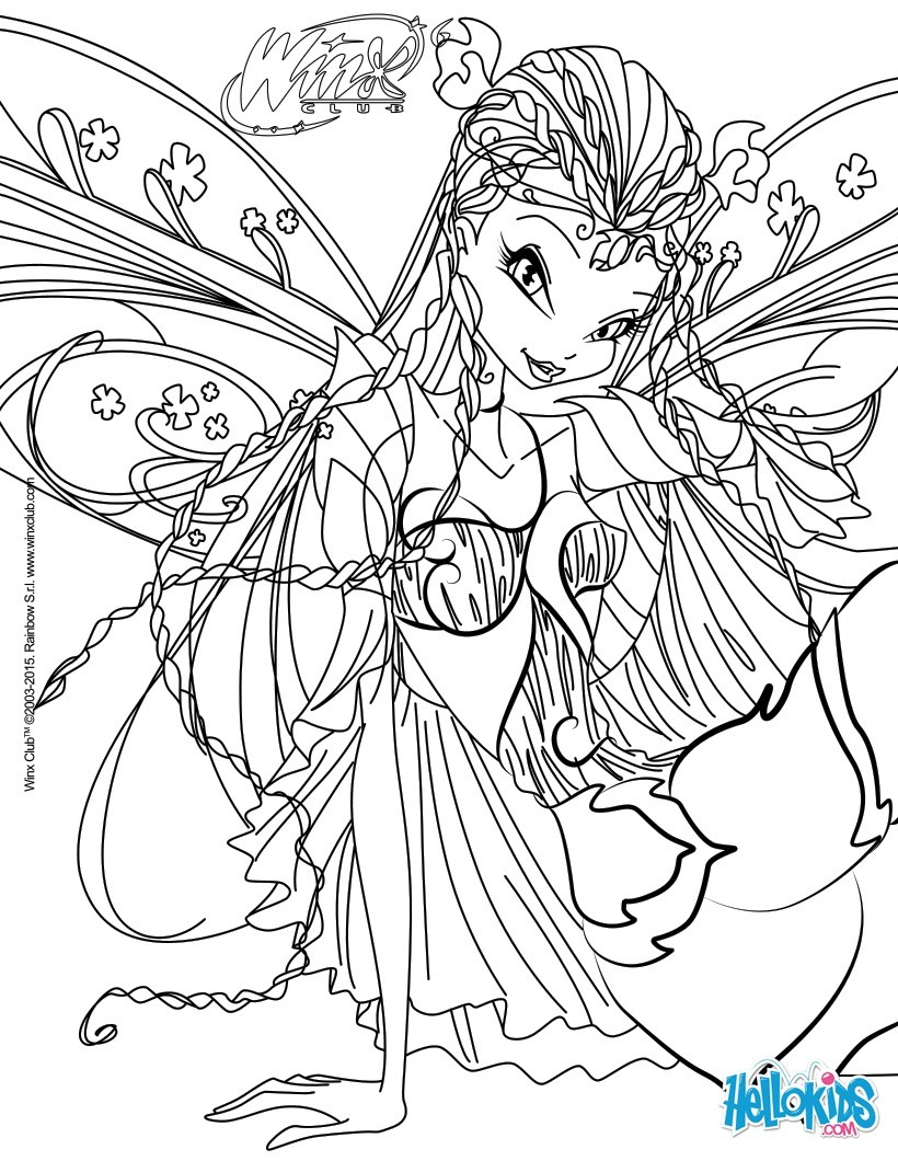 Bloom Transformation Sirenix Coloring Pages Auto