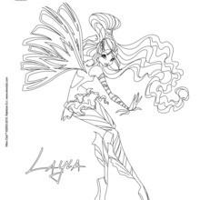 Dibujo para colorear : Layla, transformación en Sirenix