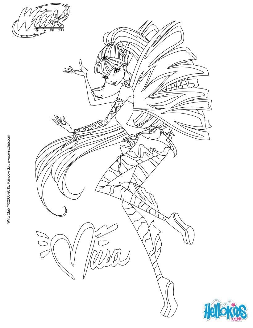 Las Winx para colorear - Dibujos para colorear - Imprime dibujos ...