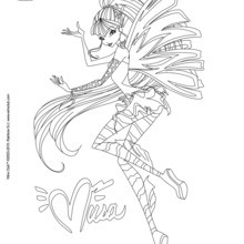 Dibujo para colorear : Musa, transformation Sirenix