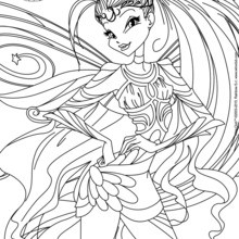 Dibujo para colorear : Stella, transformation Bloomix