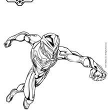 Dibujo para colorear : Combate de Max Steel