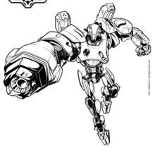 Dibujo para colorear : Cytro el aliado de Max Steel