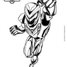 Dibujo para colorear : La armadura de Max Steel