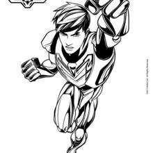 Dibujo para colorear : Los súper poderes de Max Steel