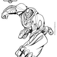 Dibujo para colorear : Max Steel en modo turbo