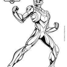 Dibujo para colorear : Max Steel listo para cumplir su misión