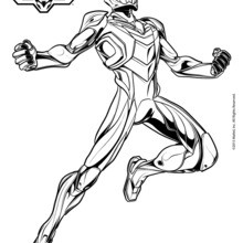 Dibujo para colorear : Max Steel N-Tek adventures