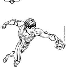 Dibujo para colorear : Max Steel sin casco