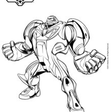 Dibujo para colorear : Max Steel Turbo un superhéroe