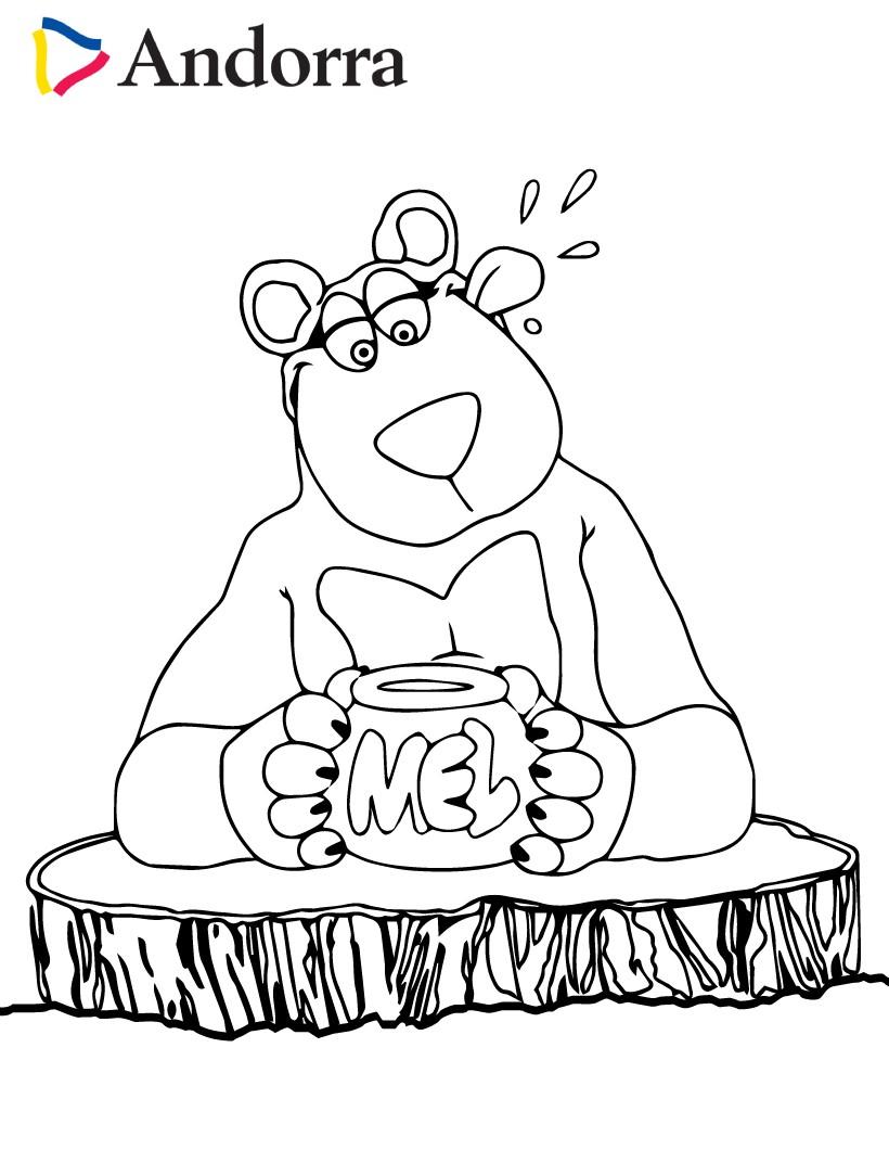 Dibujos para colorear miel y oso pardo - es.hellokids.com
