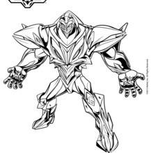 Dibujo para colorear : Miles Dredd con su armadura