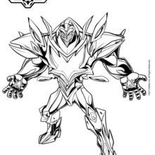 Dibujo para colorear : Miles Dredd el enemigo Max Steel